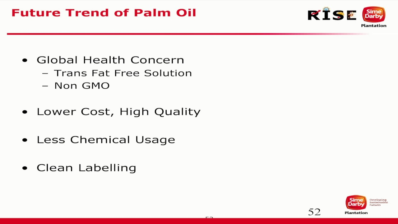 Malaysian Palm Oil International Chef Conference 2016: Future Trend of Palm Oil