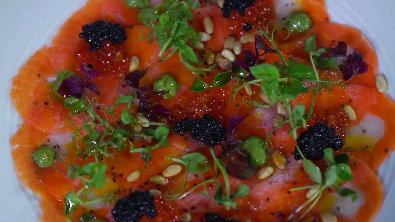 Healthy Bites: Salmon and Sea Bass Carpaccio