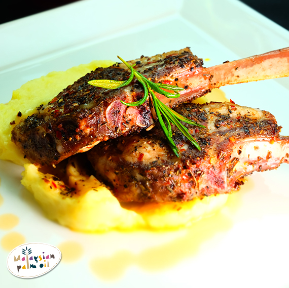 Marinated Lamb Ribs With Old Style Mashed Potatoes